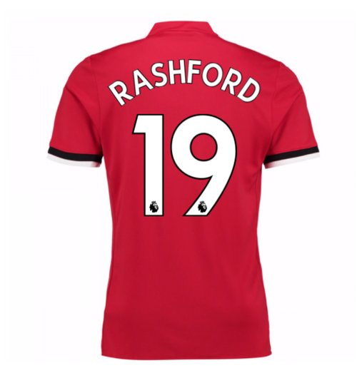 Camiseta 2017/18 Manchester United FC 2017-2018 Home (Rashford 19)