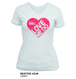 Camiseta Beatles de mulher - Design: Love Me Do