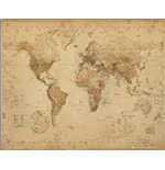 Poster World map 281854