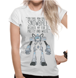 Camiseta Rick and Morty - Snowball de mulher