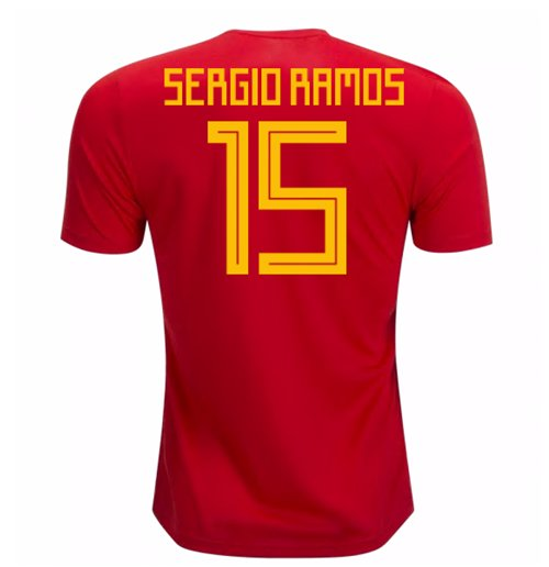 30f2b5bf2b2f4 Compra Camiseta 2018 19 Espanha Futebol 2018-2019 Home (Sergio Ramos 15)
