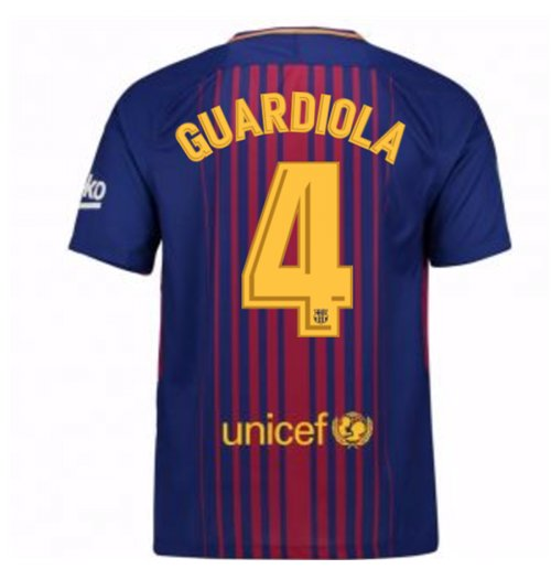 Camiseta 2017/18 FC Barcelona 2017-2018 Home (Guardiola 4)