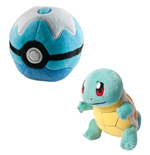 Pokemon Pelúcia Squirtle com Poke Ball 15 cm