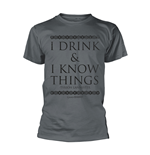 Camiseta Jogo de Poder Soberano (Game of Thrones) - I Drink & I Know Things