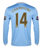 Camiseta manga comprida Manchester City FC 2013-2014 Home