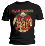 Camiseta Iron Maiden de homem - Design: Powerslave Lightning Circle