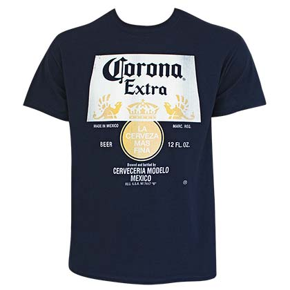 Camiseta Corona Distressed Bottle Label Logo