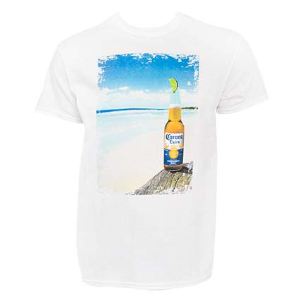Camiseta Corona Bottle Beach Scene