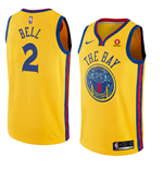 Camiseta Golden State Warriors Jordan Bell Nike City Edition Réplica