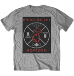Camiseta Bring Me The Horizon de homem - Design: Heart & Symbols