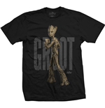 Camiseta Marvel Superheroes de homem - Design: Avengers Infinity War Teen Groot Text