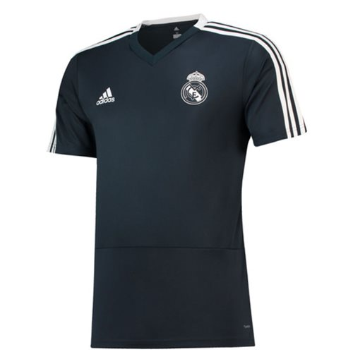 Camiseta Real Madrid 2018-2019 (Cinza Escuro)