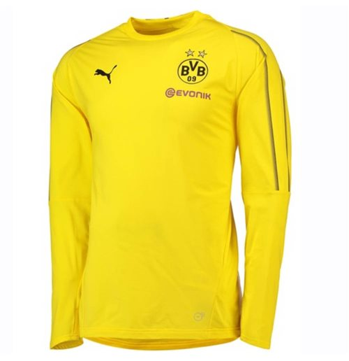 2018-2019 Borussia Dortmund Puma Training Sweat Top (Amarelo)