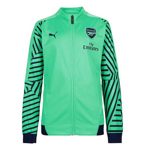 2018-2019 Arsenal Puma Stadium Jacket (Verde)