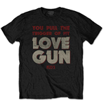 Camiseta Kiss de homem - Design: Pull The Trigger