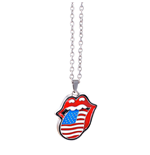 Colar The Rolling Stones - Design: USA tongue