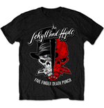 Camiseta Five Finger Death Punch de homem - Design: Jekyll & Hyde