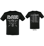 Camiseta Slayer de homem - Design: Slayer Nation 2014 Dates