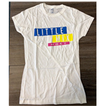 Camiseta Little Mix de mulher - Design: Logo Blue/Yellow/Pink