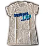 Camiseta Little Mix de mulher - Design: Dark Multi Blue Logo