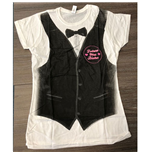 Camiseta Justin Bieber de mulher - Design: Tux All Over