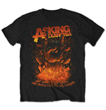 Camiseta Asking Alexandria de homem - Design: Metal Hand