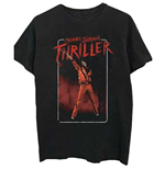 Camiseta Michael Jackson  de homem - Design: Thriller White Red Suit