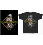 Camiseta Iron Maiden de homem - Design: Somewhere in Time Diamond