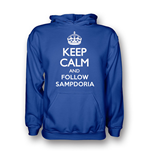 Suéter Esportivo Keep Calm and Carry On (Azul escuro)