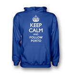 Camiseta Keep Calm and Carry On (Azul escuro)
