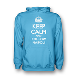 Camiseta Keep Calm and Carry On (Azul Céu)
