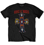Camiseta Guns N' Roses de homem - Design: Vintage Cross