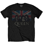 Camiseta Queen de homem - Design: Vintage Union Jack