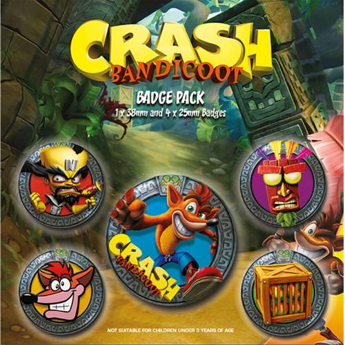 Kit Chapinhas Crash Bandicoot