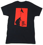 Camiseta U2 unissex - Design: Blood Red Sky