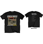 Camiseta Guns N' Roses unissex - Design: Lies Track List