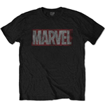 Camiseta Marvel Superheroes de homem - Design: Distressed Box Logo