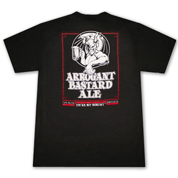 Camiseta ARROGANT BASTARD Ale You're Not Worthy