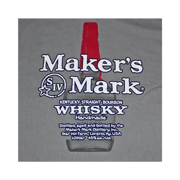 Camiseta MAKER'S MARK Bottle Logo