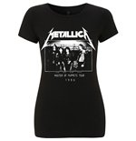 Camiseta Metallica de mulher - Design: MOP Photo Damage Inc Tour