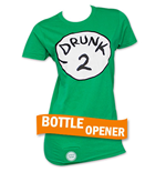 Camiseta Dr. Seuss Inspired Drunk 2 Bottle Opener de menina