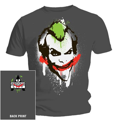 Camiseta Batman Joker Graffiti. Produto oficial Emi Music