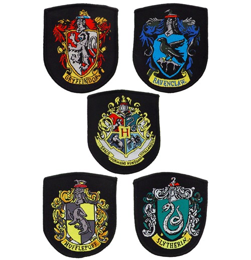 Harry Potter Pack de 5 Remendos Escudos das Casas