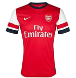 Camiseta Arsenal Home 2012-13 de menino