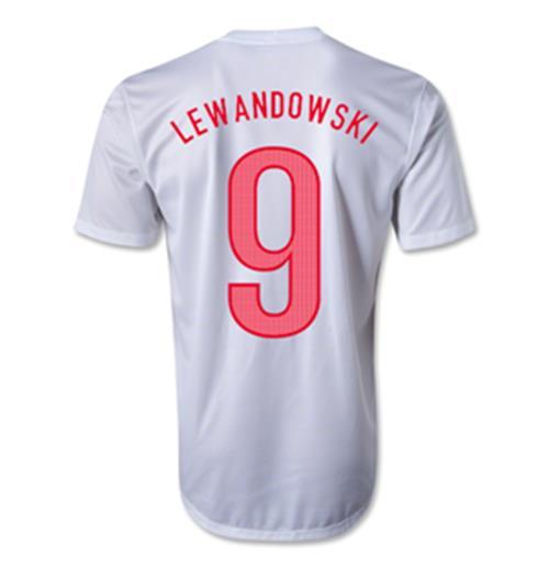 27c698adcf8b0 Compra Camiseta Polônia 2012-13 Home(Lewandowski 9) Original